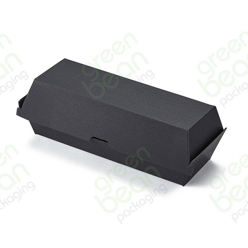 Black Hot Dog Snack Box