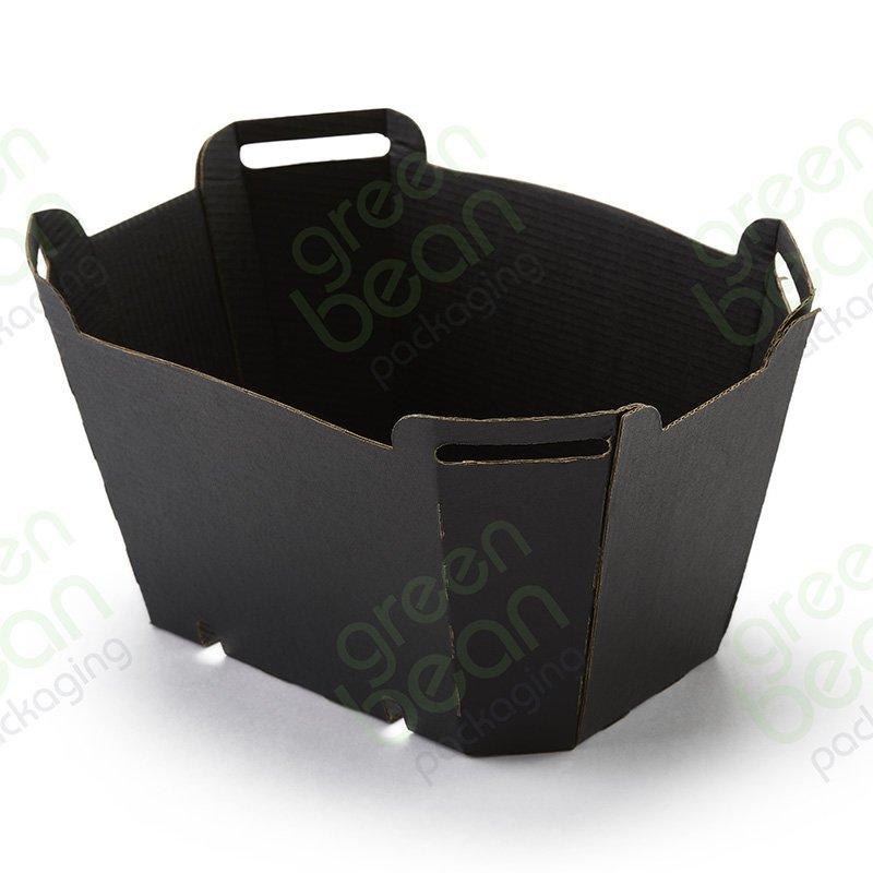 Corrugated Clamshell Punnet Base (Black)